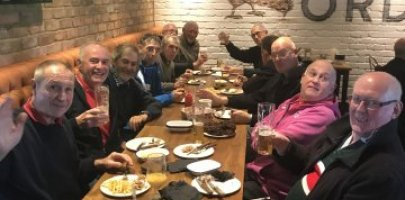 hot chicken and chips A successful end to our over 65 round robin at The Hive Barnet FC with the Barnet walking football team