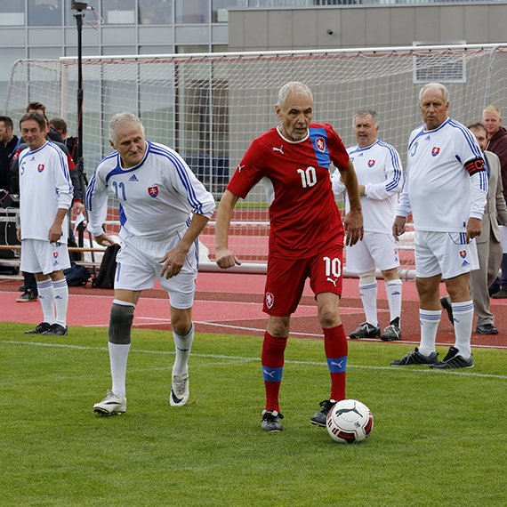 Czech Republic v Slovakia International Walking Football Match 1